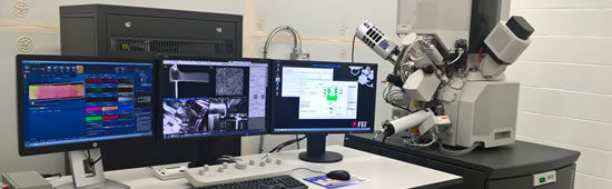 FEI Helios NanoLab G3 CX focus ion beam-field emission gun scanning electron microscope
