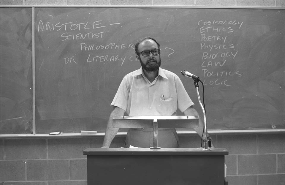 6. Dr John Panter from the Department of History and Philosophy of Science, 1976
