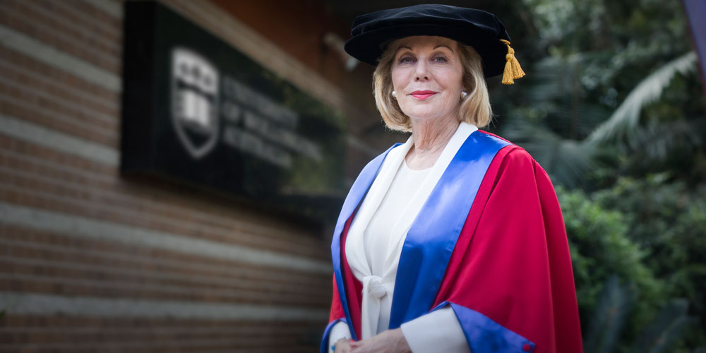 Ita-Buttrose-after-receiving-her-Honorary-Doctorate-from-UOW