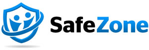 SafeZone Logo links to download the app