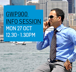 GWP900 Home page Info sessions