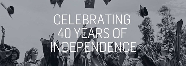 40 Years of Independence Banner