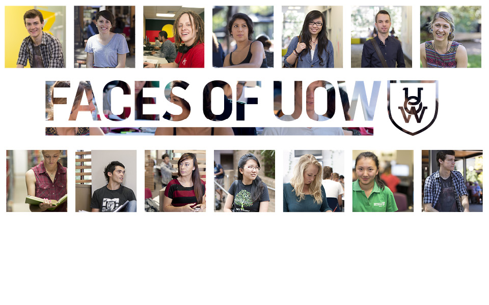 Faces of UOW Banner