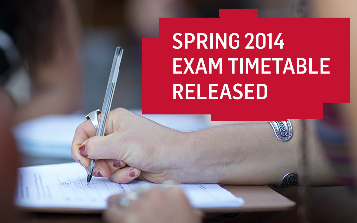 Spring Exam Timetable Banner
