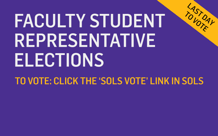 Faculty Student Rep Election