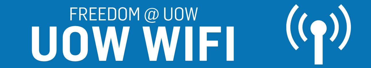 UOW Freedom WIFI banner
