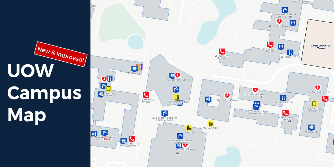 UOW Wollongong Campus Map