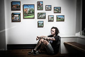 UOW graduate Chris Zanko at his Locals Lonely exhibition