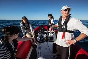 Professor Andy Davis and students in Belmore Basin