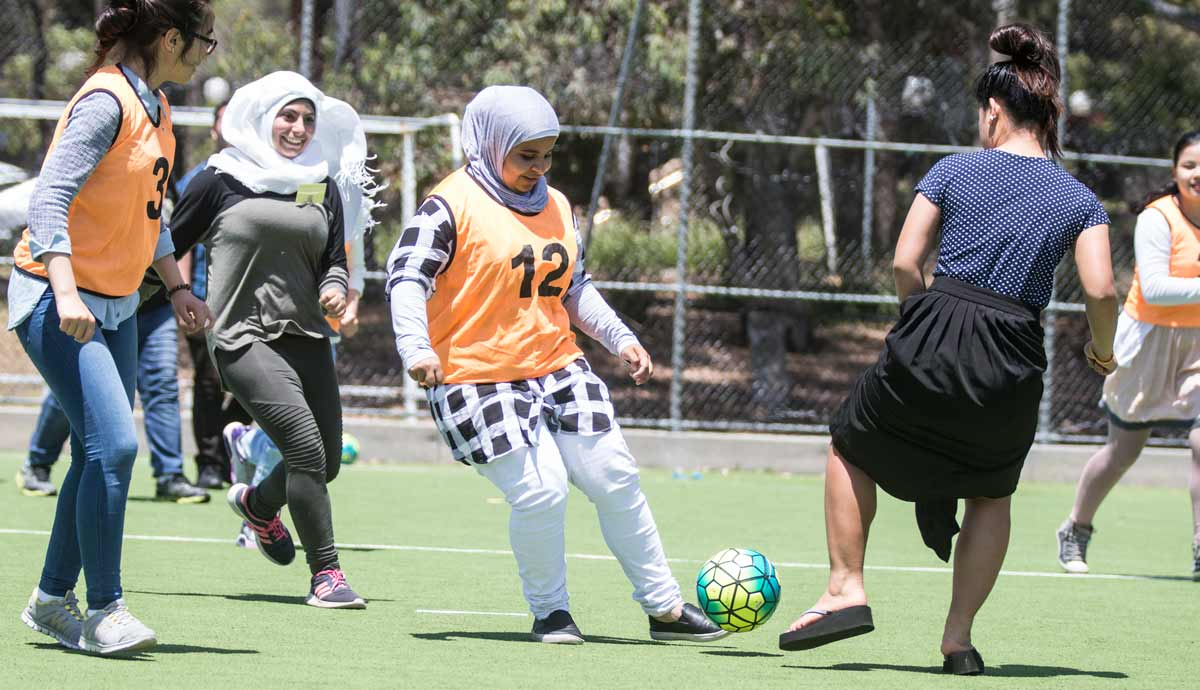 Read more about bright young refugees taking part in campus activities