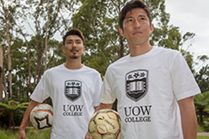UOW College signs Japanese footballer 300x200