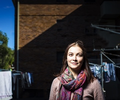 Read the article on Sophie-May's research about families in apartments (in UOW's The Stand)