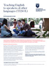Teaching English to Speakers of Other Languages (TESOL) brochure