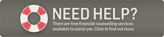 Need Help? Free financial counselling services are availabe.